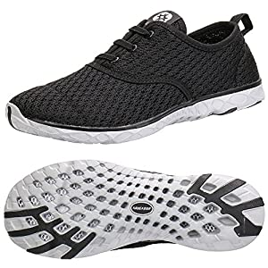 ALEADER Women's Stylish Quick Drying Water Shoes Black 9 D(M) US