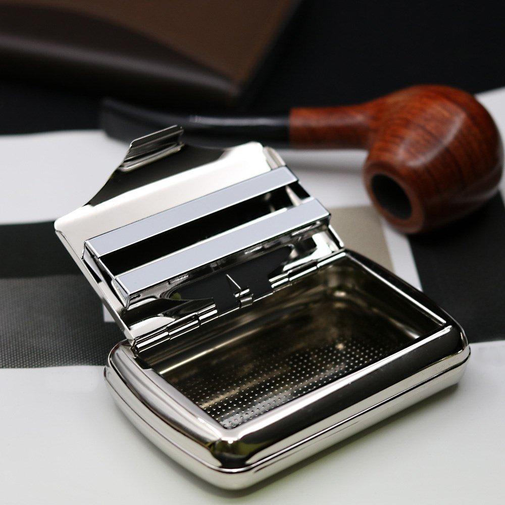Brand New Portable metallo portasigarette con graffetta in acciaio INOX portasigarette The Best Kingdom