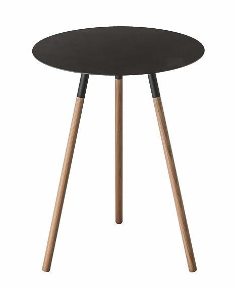 Amazon.com: Red Co. - Mesa auxiliar redonda de madera y ...