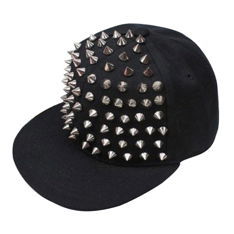 Unisex Baseball Kappe DDLBiz® Rock Hip Hop Silber Niet-Bolzen Spiky Hut Baseballkappe