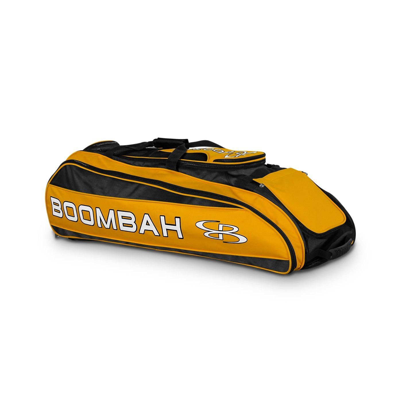Boombah Beast Baseball/Softball Bat Bag - 40'' x 14'' x 13'' - Black/Gold - Holds 8 Bats, Glove & Shoe Compartments by Boombah (Image #1)