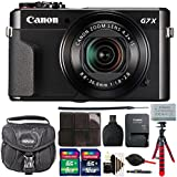 Canon PowerShot G7 X Mark II 20.1 MP Digital Camera (Black) + 24GB Memory Card + Wallet + Reader + Lens Pen + Dust Blower + Case + 3pc Cleaning Kit + Flexible Tripod