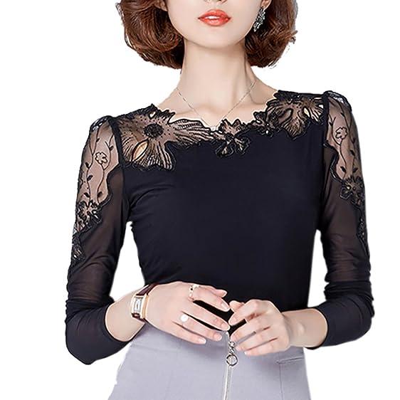 chemise femme plus size lace blouse chiffon shirt women tops long sleeve women blouses bluses