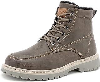Apragaz-Bottes pour hommes, Bottes de Neige d'hiver Résistantes pour Hommes Botte de Combat Extérieure Antidérapante Chaussures de Randonnée en Montagne