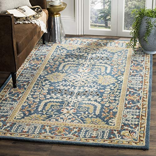 Safavieh Antiquities Collection AT64B Handmade Traditional Dark Blue and Multi Area Rug 8' x 10'