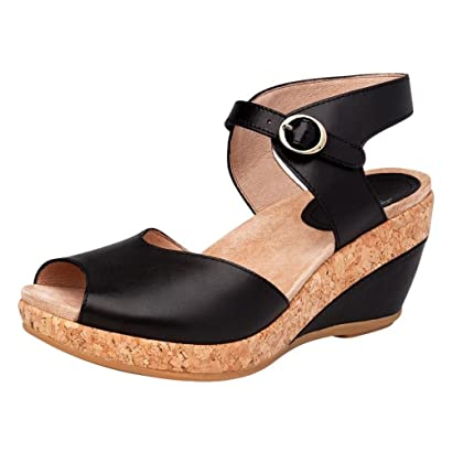5f840119de2 Dansko Womens Charlotte Wedge Sandals