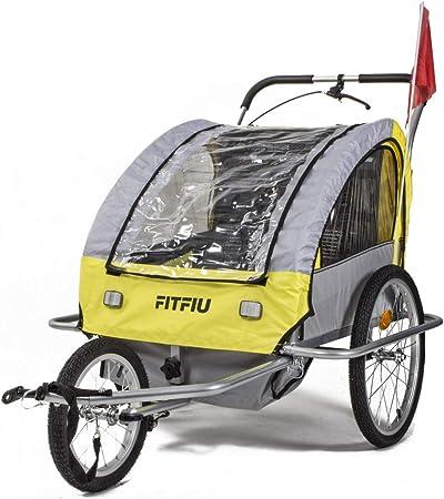 Fitfiu - BITRY Remolque de bicicleta convertible en carrito de ...