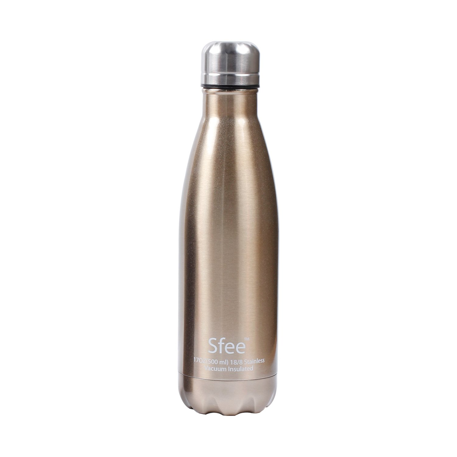 Perfect Metal,Keep Hot Cool Leak Proof Camping Tennis Runner Bike Sports Water Bottles Sfee 17oz Double Wall Vacuum Insulated Stainless Steel Water Bottle Cup Protective Carry Bag Dark Blue Protective Carry Bag Keep Hot/&Cool Sports Water Bottles