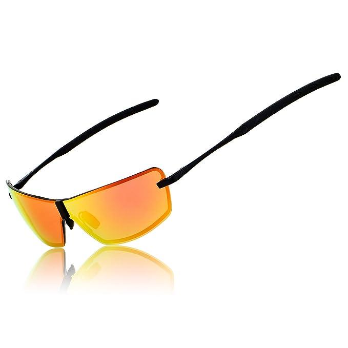 02cab18642 Ronsou Men UV400 Rimless Aluminium-Magnesium Polarized Sunglasses For Driving  Fishing Golf Outdoor