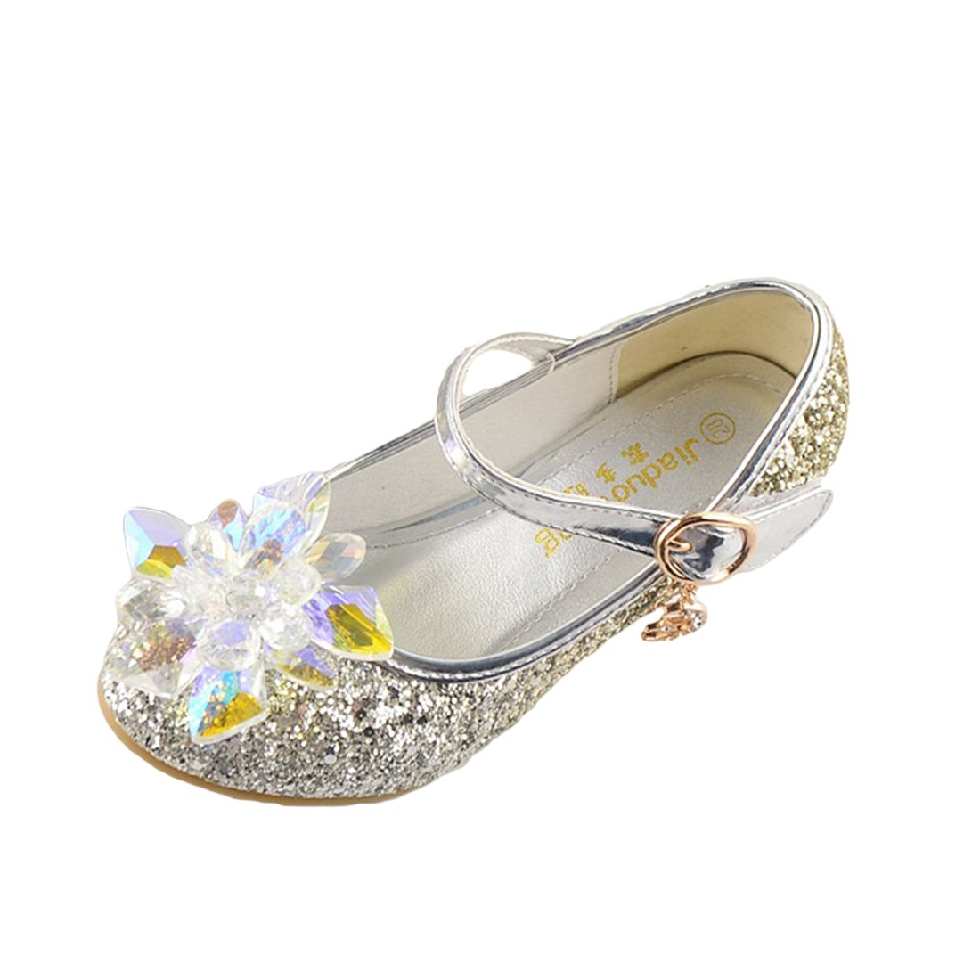 Toddler Little Big Kids Girls Princess Dress Up Shoes Glitter Dance Evening Party Wedding Shoes