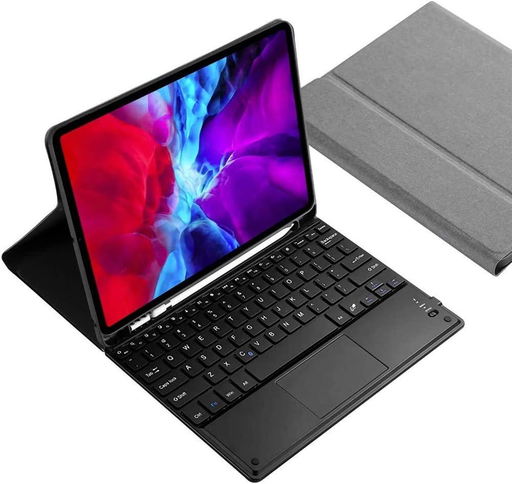 Funda para Teclado iPad Pro 11 2020 - Teclado Bluetooth Desmontable con Panel Táctil - Lápiz De Soporte De Carga De Segunda Generación - Estuche para Tableta