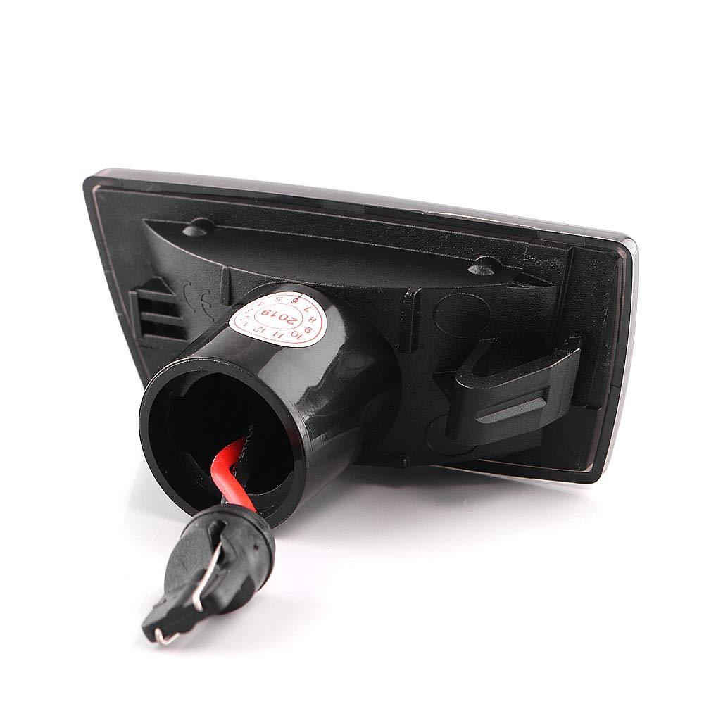 Intermitente lateral LED intermitente din/ámico con certificado E Black Vision V-171902LG