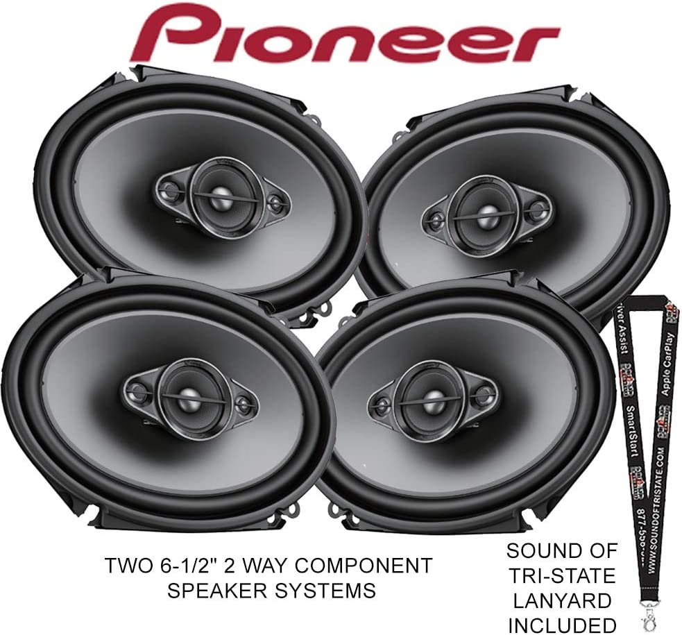 Two Pioneer TS-A682F 6 x 8 4-Way Coaxial Speaker Systems