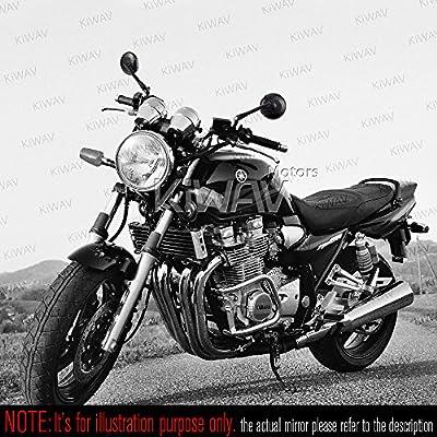 Modern Black Mirrors CNC Aluminum Motorcycle Motorbike Sportster Bobber Cruiser Street Naked Road Bike KiWAV