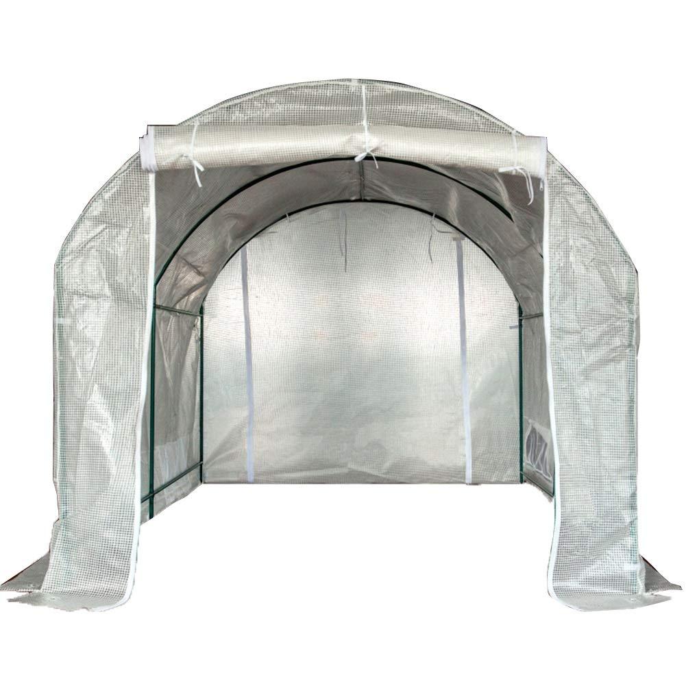 LIANGLIANG 温室フラワースタンド用ガーデニングウォークイン特大アーチ型ドアデザイン保温防雨PEメッシュクロス引裂抵抗、3スタイル (色 : クリア, サイズ さいず : 300X200X175CM) B07MS8R8Z2 クリア 300X200X175CM