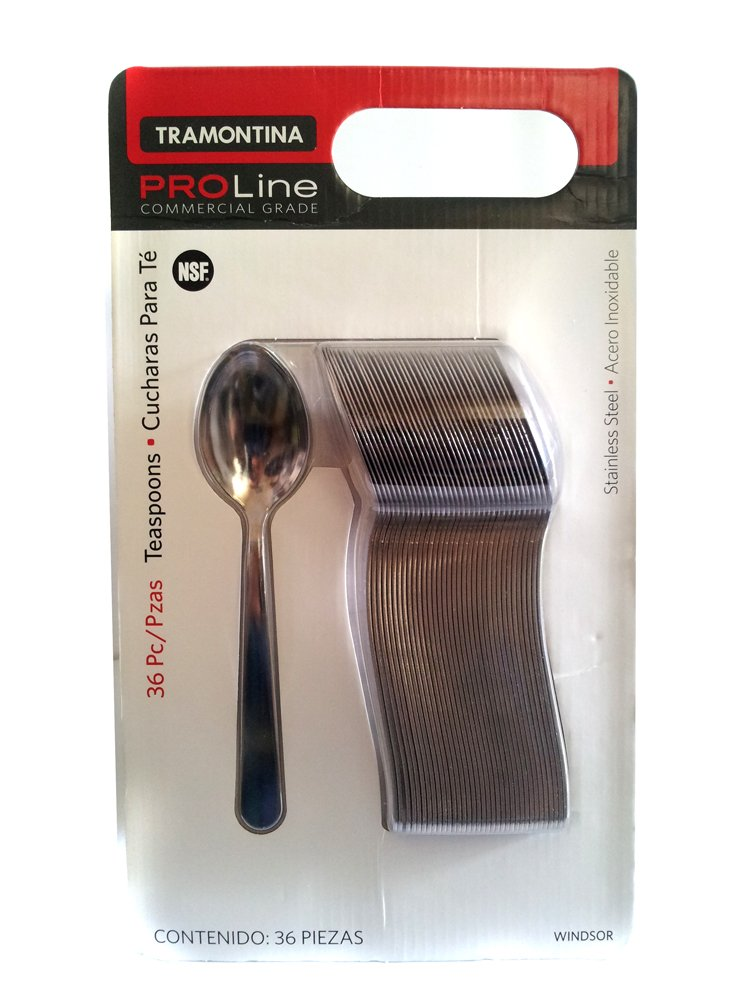 Tramontina Pro Line 36 Teaspoons Commercial Grade Stainless Steel (1, A) by Tramontina
