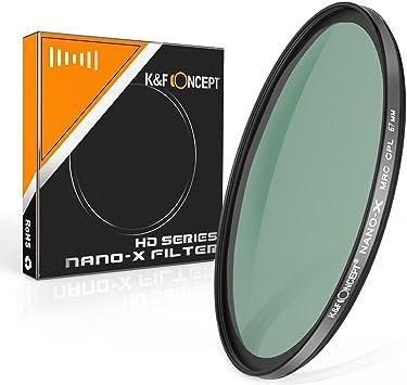 K/&F Concept 82MM CPL Filter 18 Layer Super Slim CPL Circular Polarizer Filter
