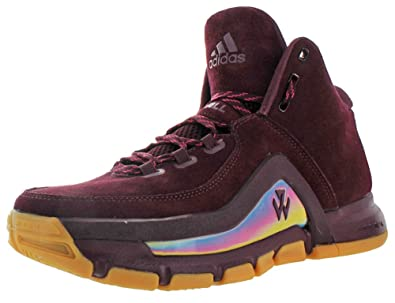 official photos be575 63761 adidas J Wall 2.0 Mens Basketball Shoe 8 Maroon Bold Pink Gum