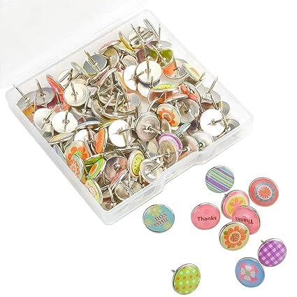 6b7abb576a Irich Puntine per Lavagna Sughero, Metallo Puntine da Disegno Colorate per  Bacheca in Sughero, Lavagne e Mappa (100 Pezzi, Colori Assortiti):  Amazon.it: ...
