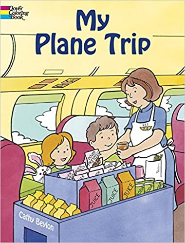 my plane trip dover coloring books