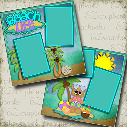 (Beach Life Girl - Premade Scrapbook Pages - EZ Layout 2990 )