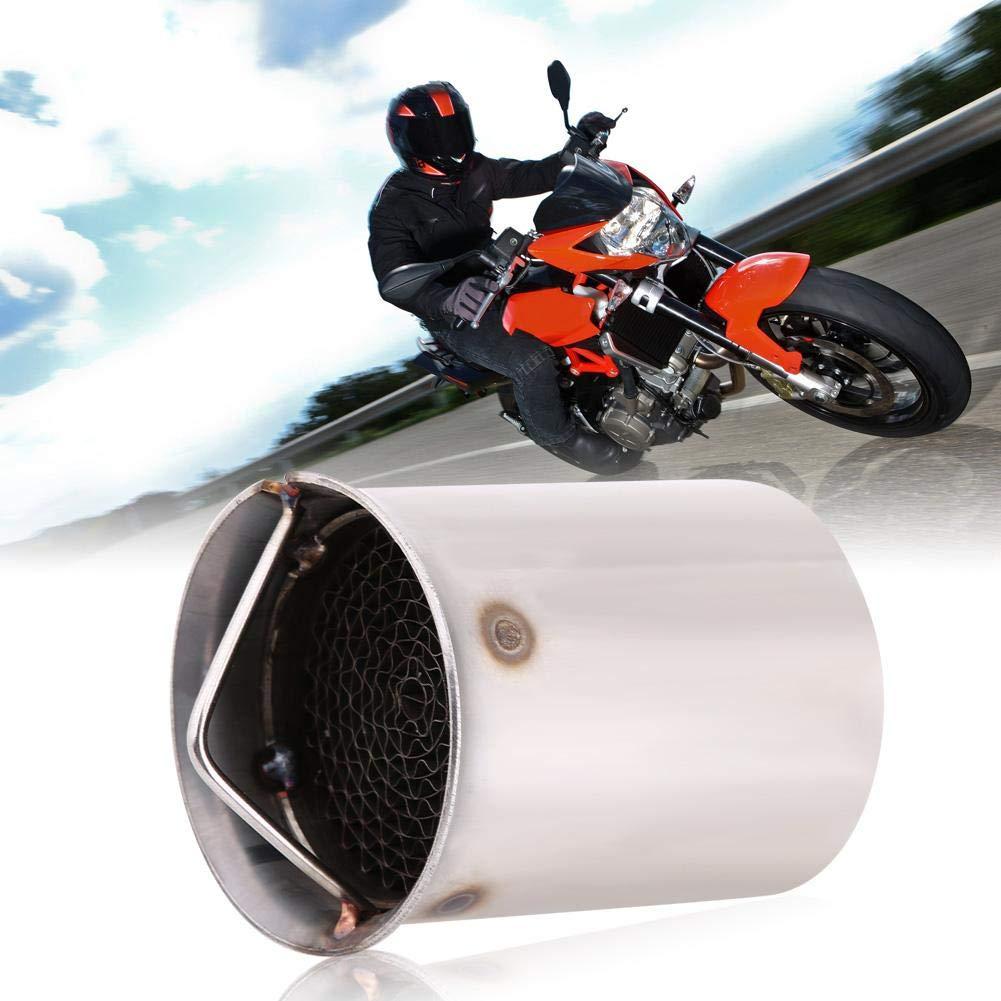 Duokon 51mm Universel Tuyau de Silencieux dEchappement 5 Adaptateur de Tuyau dEchappement de Moto dAcier Inoxydable /Éliminateur de Bruit