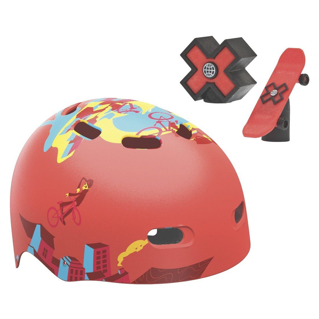 Bell XGames Recon Child Multi-Sport Helmet with Valve Caps