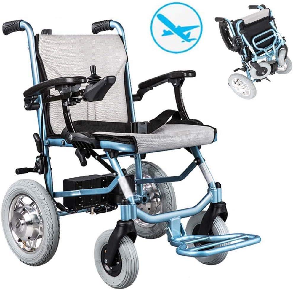 DGPOAD Silla De Ruedas Inteligente Silla De Ruedas Eléctrica Power Plegable Wheelchair Ligera De La Aleación De Aluminio Silla,conduzca con Potencia O Use como Silla De Ruedas Manual