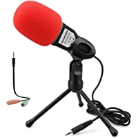 Soonhua Condenser Microphone 3.5mm Plug & Play Home Stereo MIC