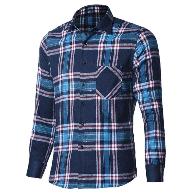 Batnott Herren Hemd Männer Business Rot Weiss Weiß Blau Kariert Langarm  Oxford Formelle Casual Anzüge Slim Fit Wellenpunkt T-Shirts Hemden Bluse  Top Mens ... 3fdbf9fd92