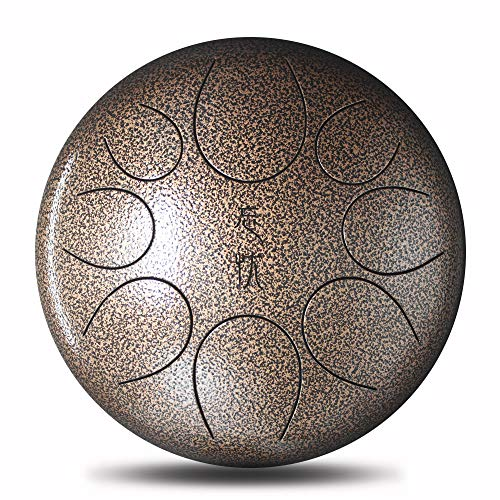 Steel Tongue Drum Handpan Drum 8 Notes 10 Inches Percussion Instrument with Padded Travel Bag & Gift