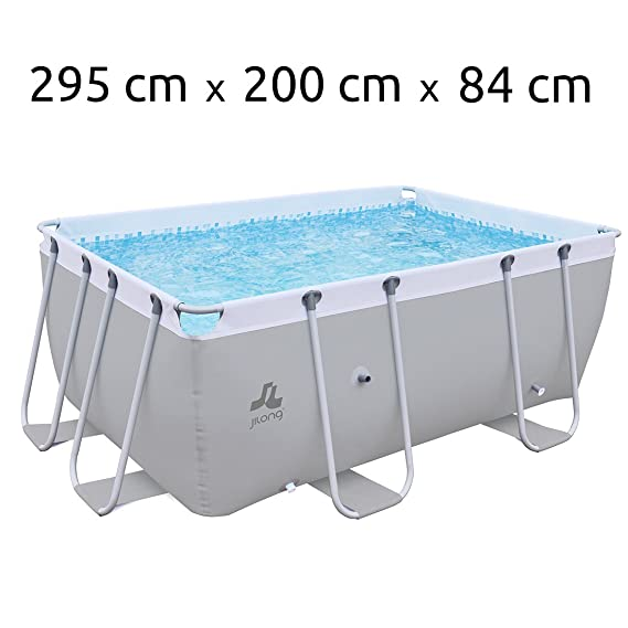 JILONG Swimming Pool Passaat Grey - Piscina con Armazón de Acero 295x200x84 cm, alberca Familiar, pileta para Jardín y terraza.: Amazon.es: Deportes y aire ...