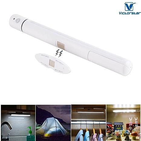 Lámpara Noche Armario Sensor Movimiento – VICTORSTAR 5 LED 2 en 1 Inalámbrico Detección Activada Palo