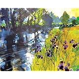 "Chris Forsey ""Sun And Meadow Thistles"" Canvas Print, Cotton, Multi-Colour, 1.80 x 40.00 x 50.00 cm"