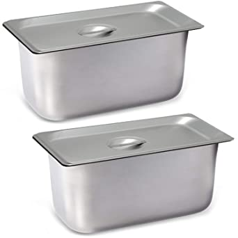 1//3 Silver Lid for Stainless Steel Hotel Steam Table Pans