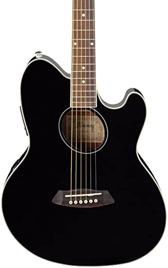 Amazon Com Ibanez Talman Tcy10 Acoustic Electric Guitar Black