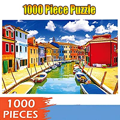 Voberry Puzzles for Adults 1000 Piece, Micro-Sized Puzzles Burano Landscape Jigsaw Puzzle Game Interesting Toys - Hand Made Puzzles Personalized Gift 27.16 x 20.07inch (Multicolor): Toys & Games