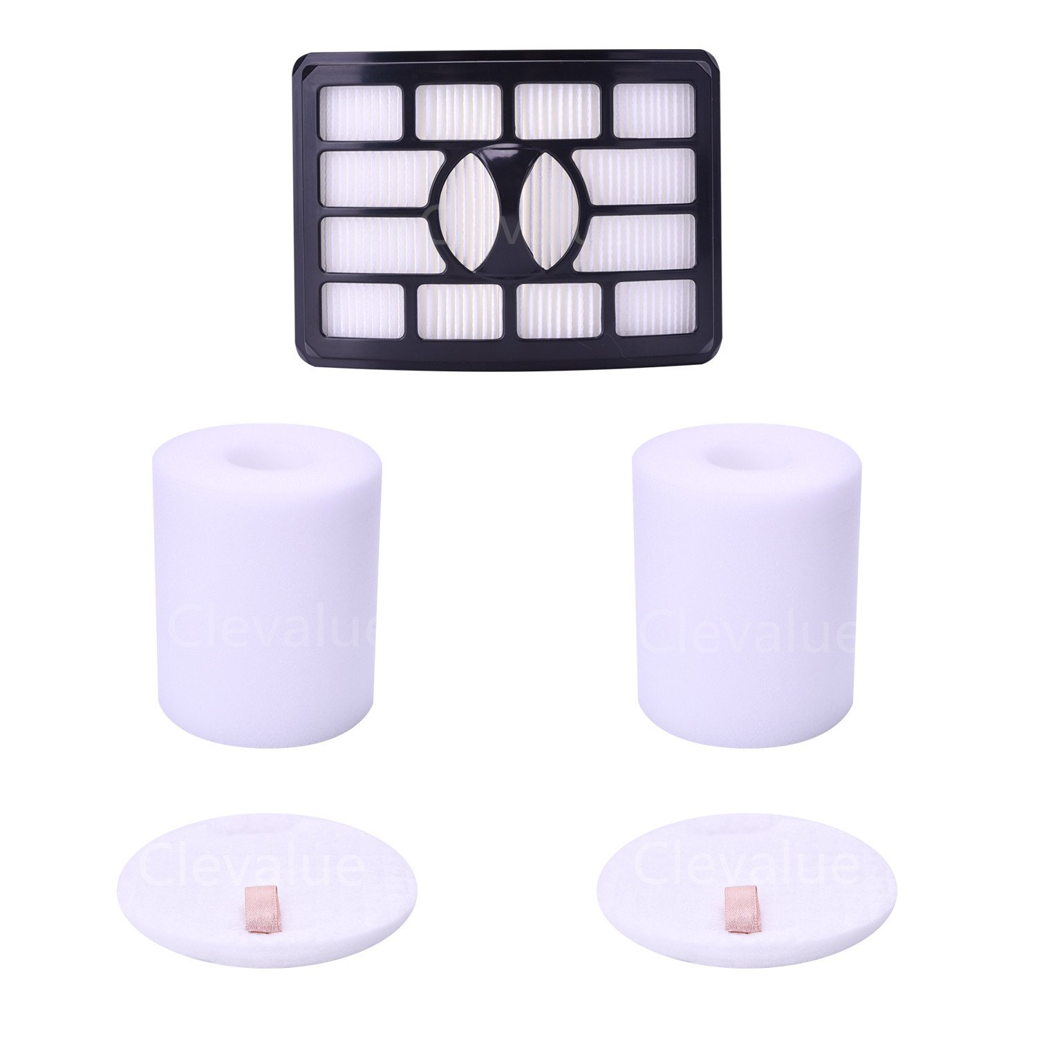 Replacement Filters for Shark Rotator Pro Lift-away NV500, NV501, NV502, NV503, NV505, NV510, NV520, NV552, UV560, Xff500 Xhf500 (Not Fit NV650,NV680,NV755 Series) (2 Foam Filter and 1 Hepa Filter) by Clevalue