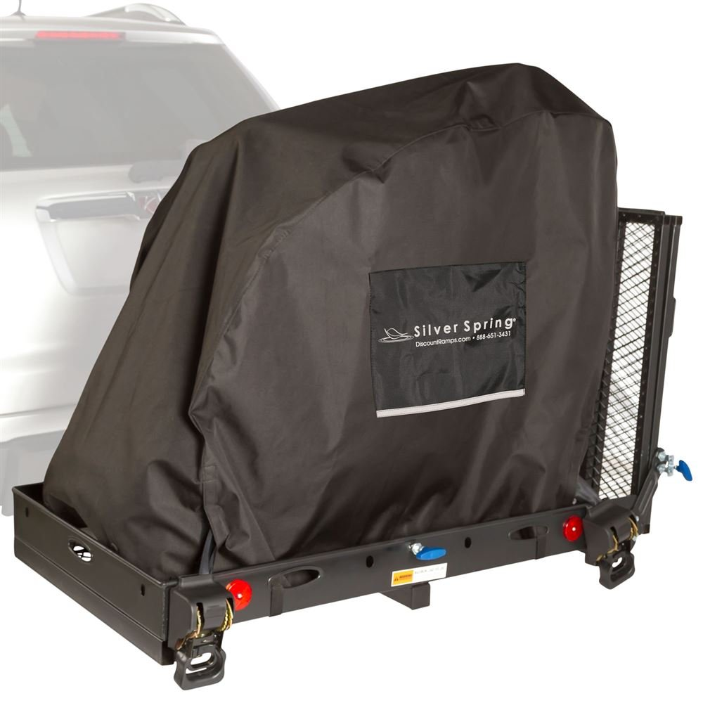 Silver Spring Essential Hitch Carrier with Powerchair Cover 500 lb