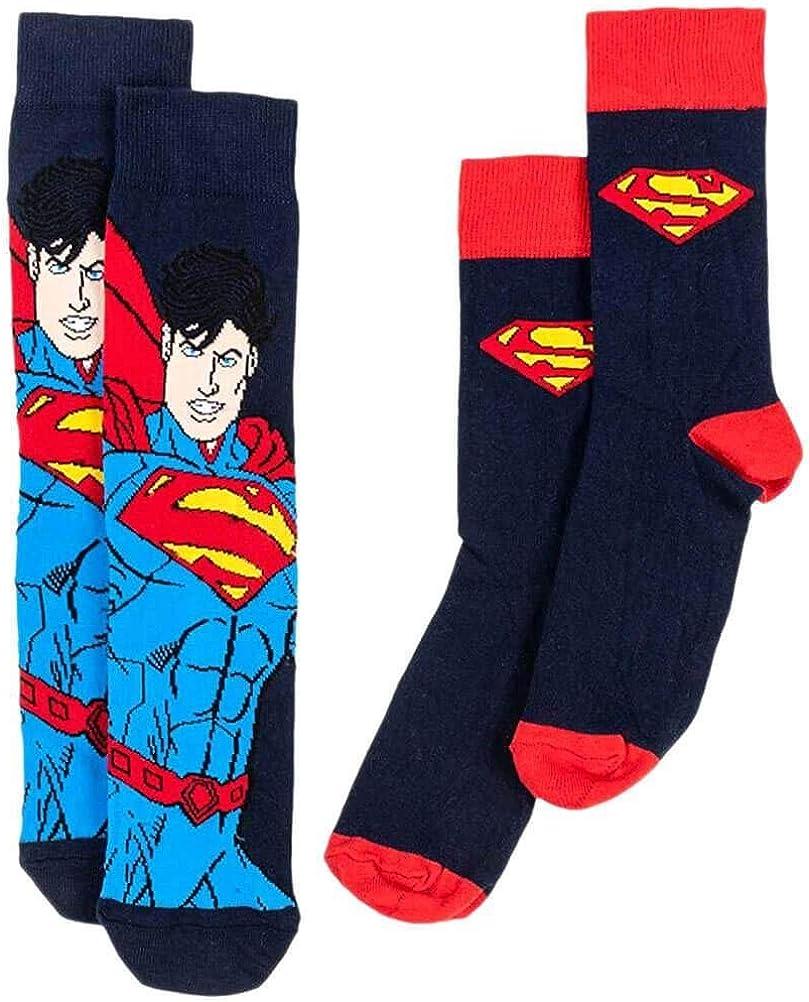 DC Comics Mens Socks 2-Pack Superman Logo Cape Uwear Footwear ...