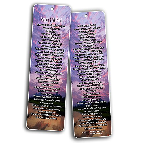 Bible Verse Bookmarks - Psalm Bookmarks - NIV Version (30-Pack) - Religious Christian Inspirational Gifts to Encourage Men Women Boys Girls - Bible Study Sunday School War Room Decor by NewEights (Image #3)