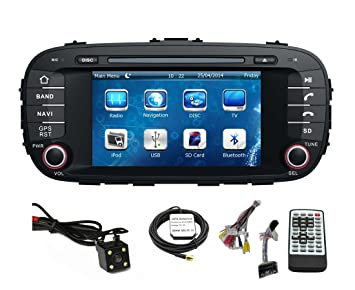 amazon com car gps navigation system for kia soul 2014 2015 on Kia Soul Speaker System for car gps navigation system for kia soul 2014 2015 double din car stereo dvd player 7 at Kia Soul Stereo Upgrade
