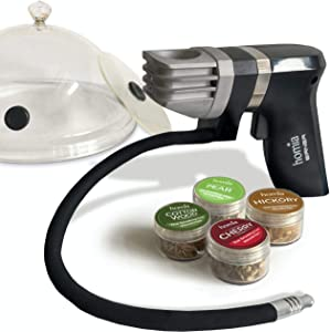 Smoking Gun Wood Smoke Infuser - Extended Kit, 12 PCS, Portable Electric Smoker Machine with Accessories and Wood Chips - Cold Smoke for Food and Drinks