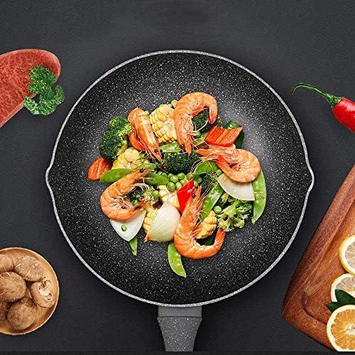 Poêle cuisinière à induction wok antiadhésif gaz cuisinière wok Accueil multifonction wok à fond plat