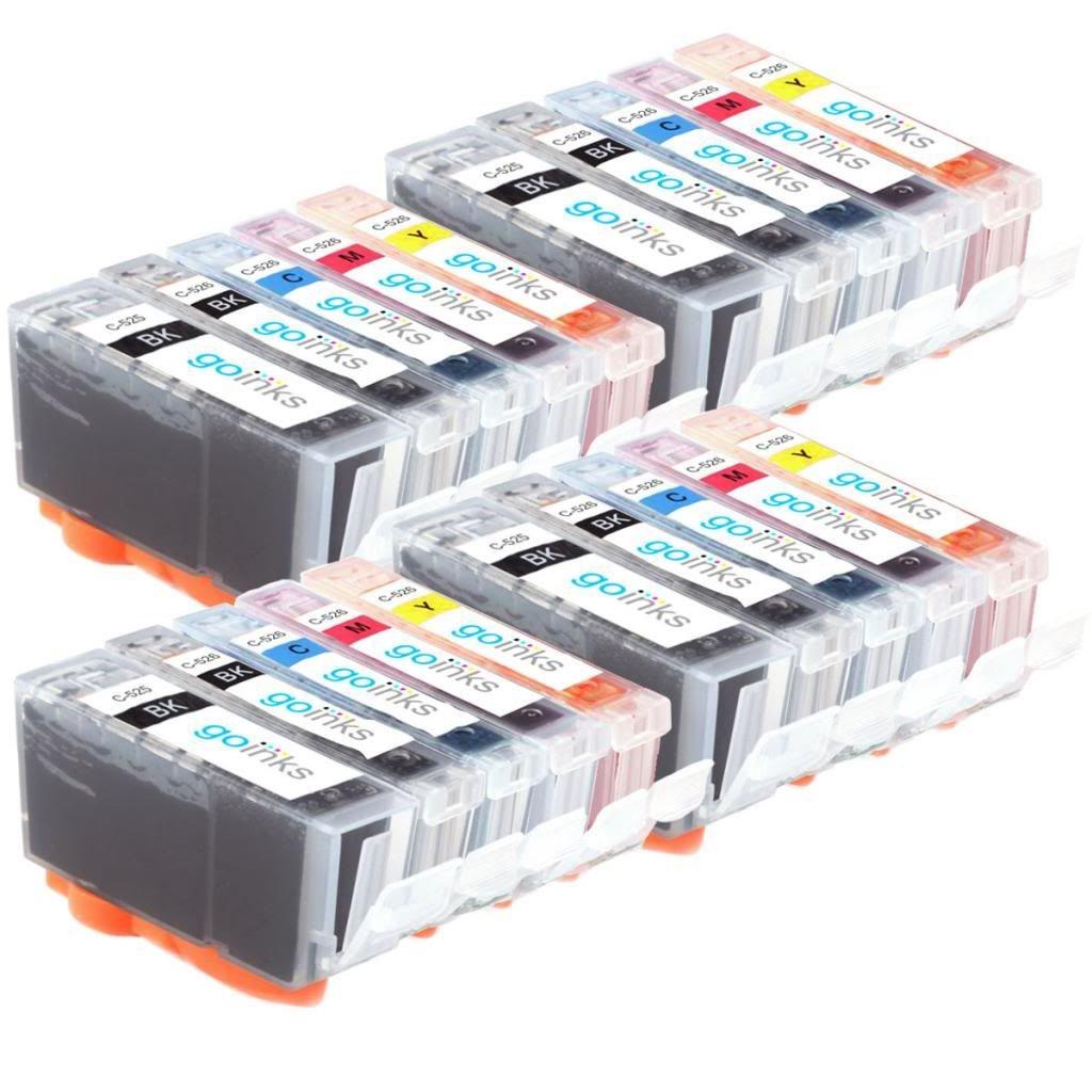5 x Inks Compatible With Canon PGI-525BK,CLI-526BK,CLI-526C,CLI-526M,CLI-526Y