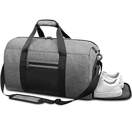 NEWHEY Bolsa de Deporte Hombre Bolsas Gimnasio con Compartimento para Zapatos Bolsos de Viaje Grande Bolsos Deportivos Impermeable Bolsa Fin de Semana ...