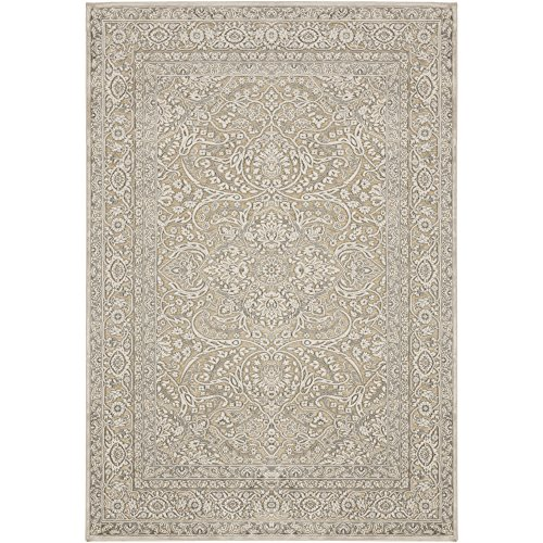 (Leandra Gray Traditional Area Rug 2'2