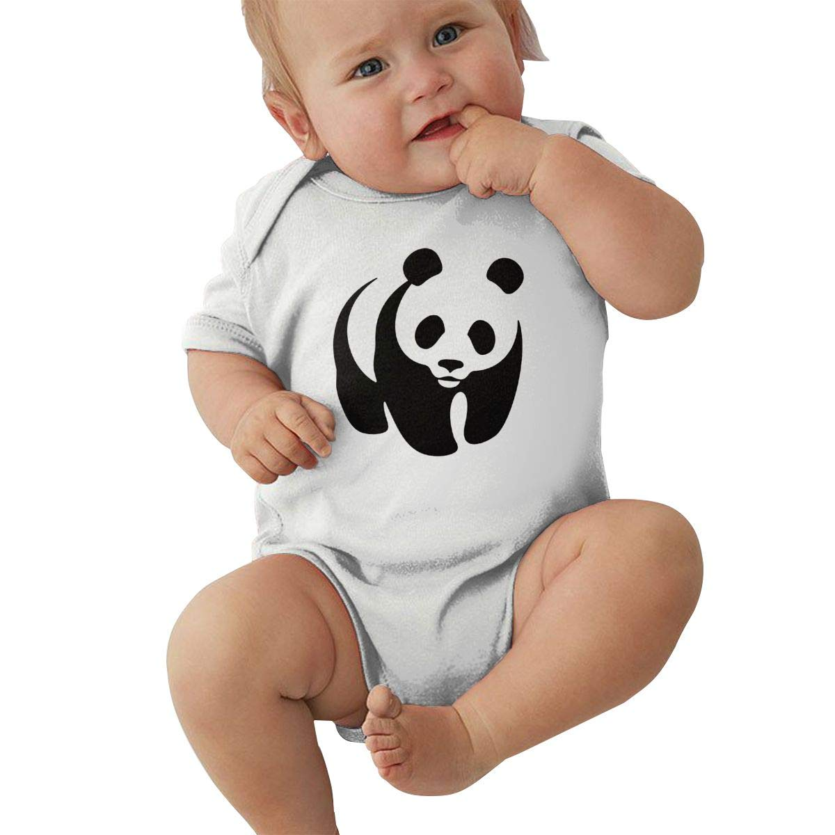 Infant Baby Girls Bodysuit Short-Sleeve Onesie Panda Print Pajamas