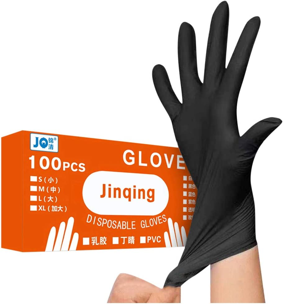 100 Pcs Disposable Nitrile Gloves Cnebo Personal Healthy Outdoor Anti-Dust Gloves Skin-Friendly Powder-Free S Latex-Free Gloves for Mechanics,Cleaning