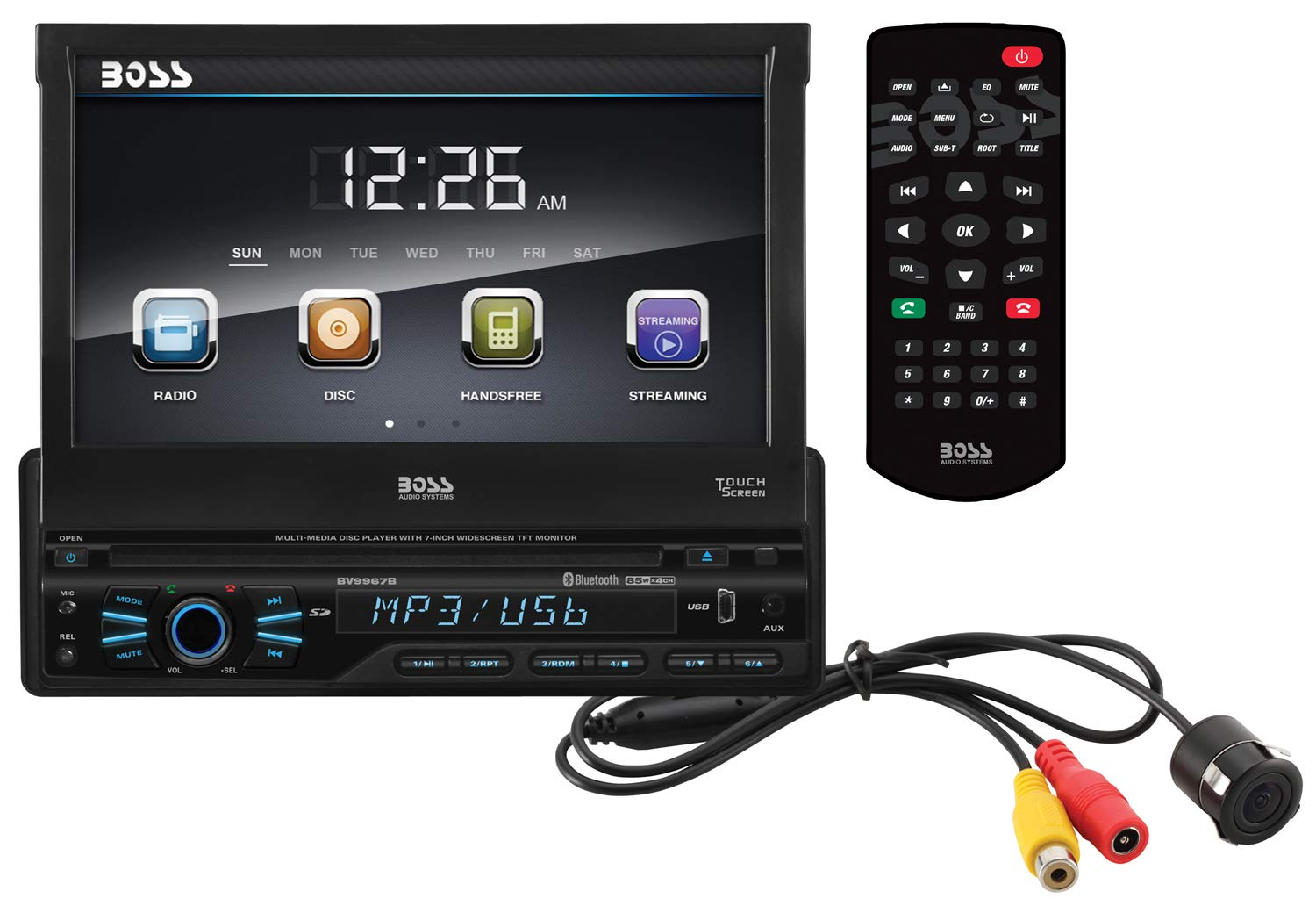 Boss Audio Bvb9967rc Car Dvd Player Bluetooth Your System Diagram Page 10 Diymobileaudiocom And Hands Free Calling 7 Inch Lcd Touchscreen Monitor Mp3 Cd Usb Sd Ports